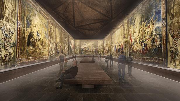 The proposed main hall of the museum extension