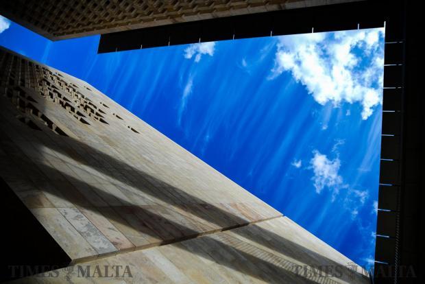 Beautiful blue skies over Valletta on 31 October. Photo: Jonathan Borg