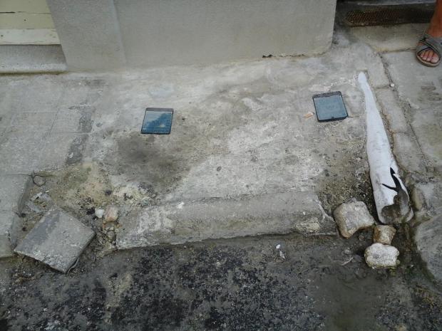 A Stella Maris street death trap for frail walkers.