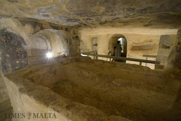 The recently opened St Paul's Catacombs in Rabat during an open day on February 12. Photo: Matthew Mirabelli
