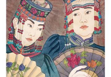 Portraits of Mongolian women by Suruya