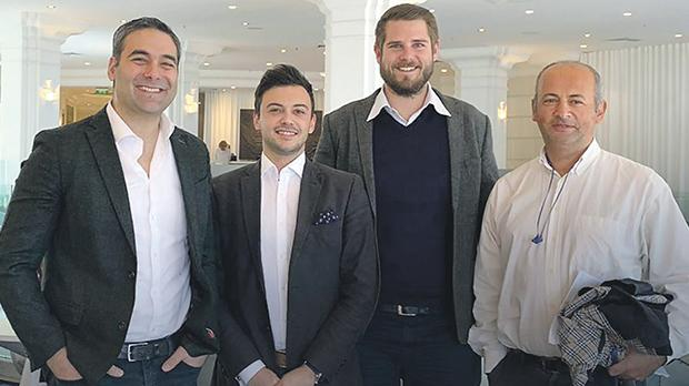 From left: Gege Gatt, director – Muovo Ltd, Alan Cini, director – Broadwing Ltd, Ben Pace Lehner, director – Broadwing Ltd, and Sinan Vural, director – Muovo Ltd.