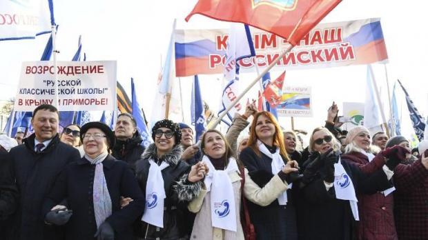 """Résultat de recherche d'images pour """"Russia marks five years since Crimea annexation with concerts, flash mobs"""""""