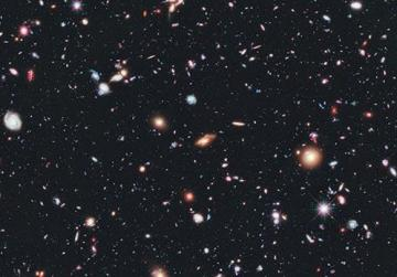 This image, called the Hubble eXtreme Deep Field (XDF), combines Hubble observations taken over the past decade of a small patch of sky in the constellation of Fornax. With a total of over two million seconds of exposure time, it is the deepest image of the Universe ever made. Photo credits: Nasa, ESA, G. Illingworth, D. Magee, and P. Oesch (University of California, Santa Cruz), R. Bouwens (Leiden University), and the HUDF09 Team