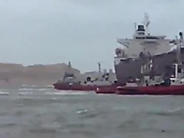 This ship asked for tugboat assistance while moored in Rinella. Video: Ray Mercieca