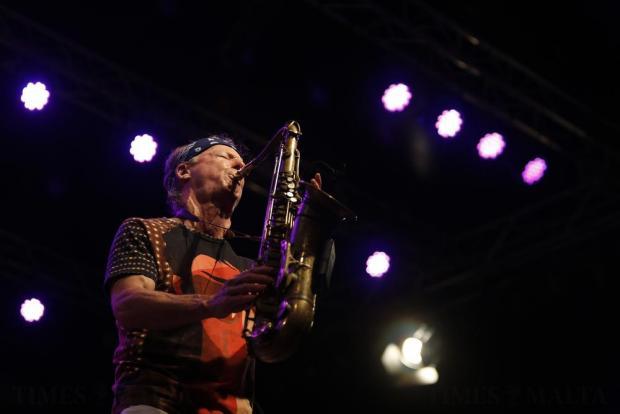 U.S. jazz saxophonist Bill Evans performs during the Malta Jazz Festival in Valletta on July 22. Photo: Darrin Zammit Lupi
