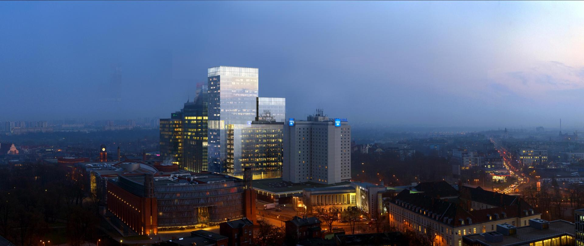 Andersia Silver A-Class highest building in Poznań (Completion 2023) in Poland