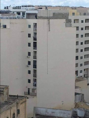 The man plunged to his death at a building site in Sliema.