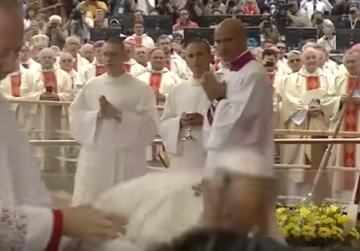 New video: Pope trips and falls during Mass