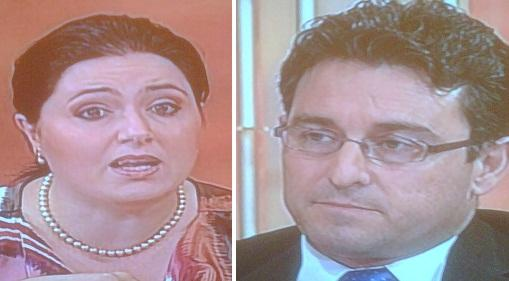 For and against - Deborah Schembri and Bernard Grech during the divorce debate.