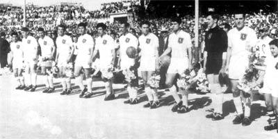 Tommy Taylor helped Valletta win the league in 1958-59, his first season with the Citizens. Taylor (second right) is seen in this photo lining up for a league match alongside (from left to right) J. Cilia, C. Mackay, M. Azzopardi, J. Darmanin and W. Bone.