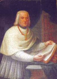 A portrait of Archpriest Saverio Cassar.