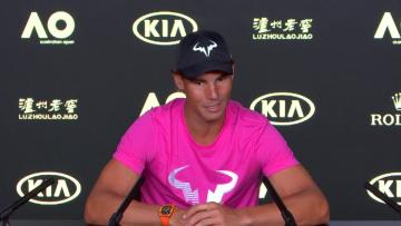 Watch: Nadal ready to let rip remodelled serve at Australian Open | Video: AFP