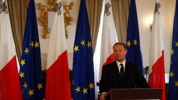Prime Minister Joseph Muscat at this afternoon's press conference. Photo: Darrin Zammit Lupi