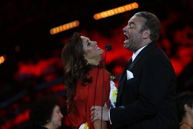 World-renowned tenor Joseph Calleja performs with guest artist mezzo soprano Hadar Halevy during his concert on the Granaries in Floriana on July 28. Photo: Darrin Zammit Lupi