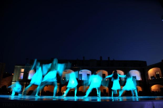 Dancers perform during the inauguration of the newly-restored upper Fort St Elmo in Valletta on May 8. Photo: Jason Borg
