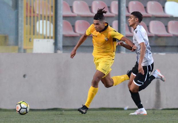 Yannick Yankam is one of Qormi's youth players. Photo: Matthew Mirabelli