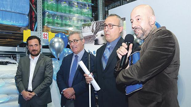 From left: Salvo Grima Group CEO Karl Aquilina, Education Minister Evarist Bartolo, Service Dogs Malta Foundation vice-chairman and co-founder Joseph Stafrace and Service Dog trainer Robert Spiteri.
