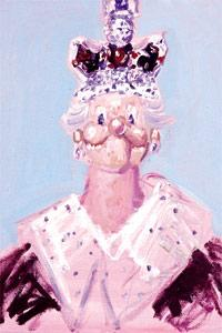US artist George Condo`s painting entitled Dreams And Nightmares Of The Queen is shown in the Wrong Gallery at the Tate Modern in London.