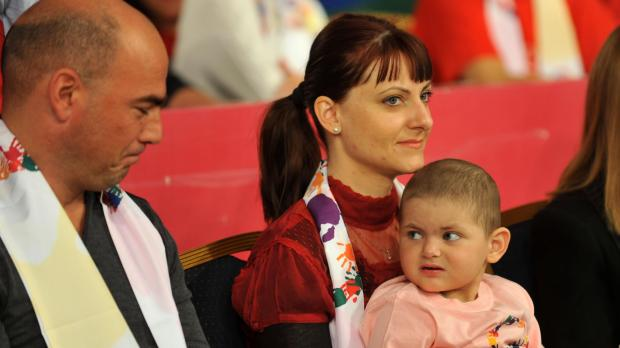 Young Leah Xuereb and her family at yesterday's L-Istrina. Photo: Chris Sant Fournier