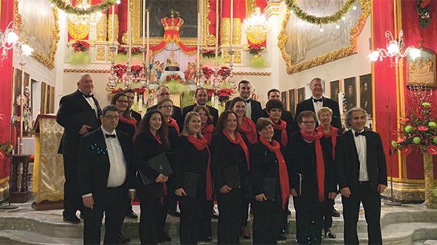The Gaulitanus Choir performing at St Francis Church, Victoria.