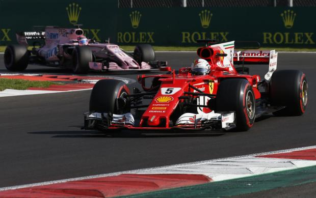 Sebastian Vettel stormed to pole position in the Mexican GP.