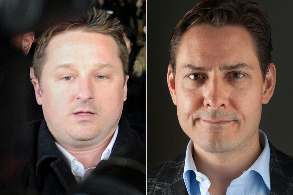 Canadian businessman Michael Spavor and diplomat Michael Kovrig. Photo: AFP