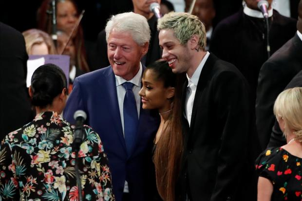 Former US president Bill Clinton was among the guests. Photo: Reuters