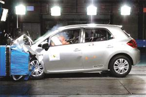 The Toyota Auris obtained five stars for adult occupant protecton and three stars for pedestrian protection in the latest Euro NCAP test.