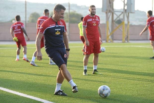 Branko Nisevic during Malta's training session. Photo: Matthew Mirabelli