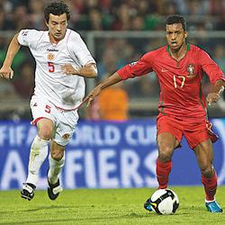 John Hutchinson (left) last featured for Malta in the 4-0 defeat away to Portugal in a 2010 World Cup qualifier, played on October 14, 2009. Photo: Paul Zammit Cutajar