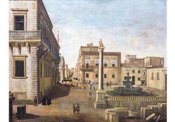 Piazza San Giorgio, Valletta.