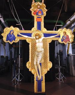 The Ognissanti Crucifix. Photo: Fabrizio Giovannozzi/AFP