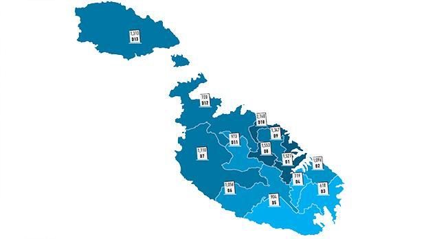 Number of collected PN votes by district. Graphics: Design Studio