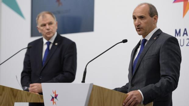 Minister Chris Fearne (right) announced Malta's bid. Photo: Matthew Mirabelli