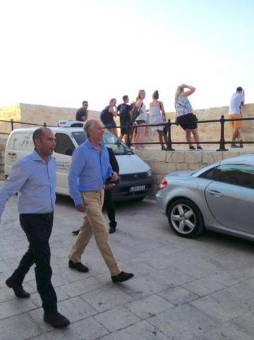 Mr Blair at Mdina.