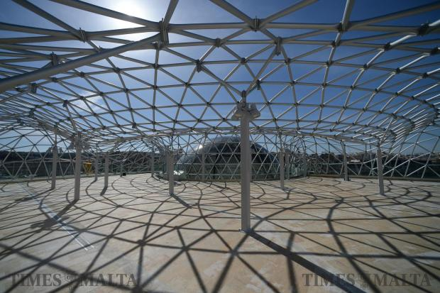 A complex structure surrounds the newly opened Planetarium at the Esplora interactive science centre in Kalkara on February 4. Photo: Matthew Mirabelli