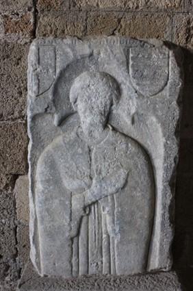 Knight's funeraray slab -16th century.