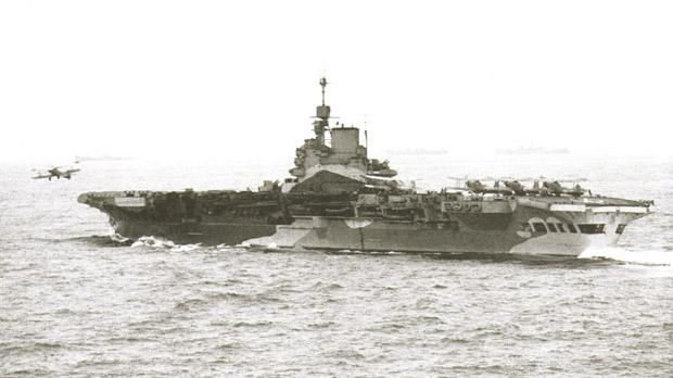 HMS Formidable seen here flying off aircraft during the Allied landings on French North Africa.