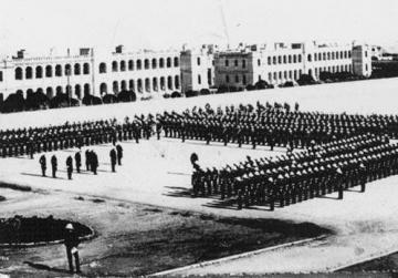 Parade ground, St Andrew's Barracks.