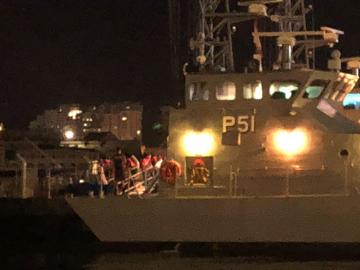 Seventy-one migrants were rescued from a sinking dinghy on Saturday evening and brought to Malta.
