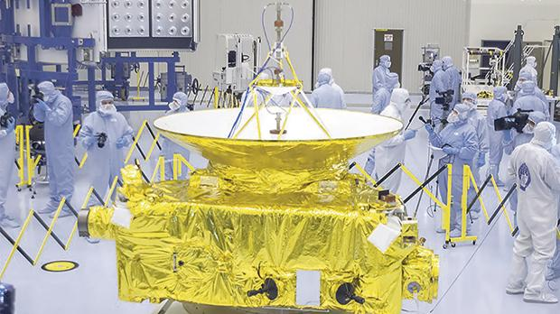 The New Horizons spacecraft, prior to launch. Photo: Ben Cooper/Launchphotography.com