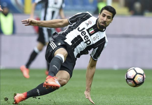 Juventus' Sami Khedira in action against Sampdoria.