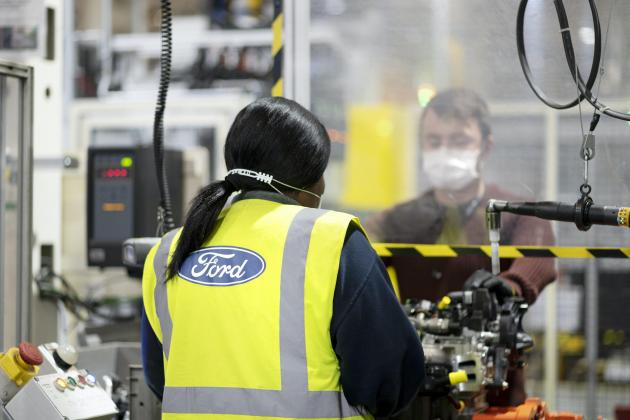 Ford resumes production at British factories