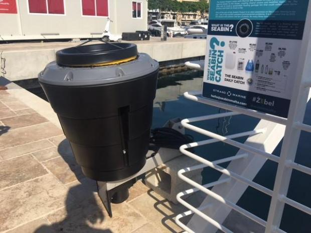 Sea bins would be deposited in the water at marinas to collect rubbish and oil