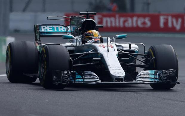 Mercedes' Lewis Hamilton during the race.