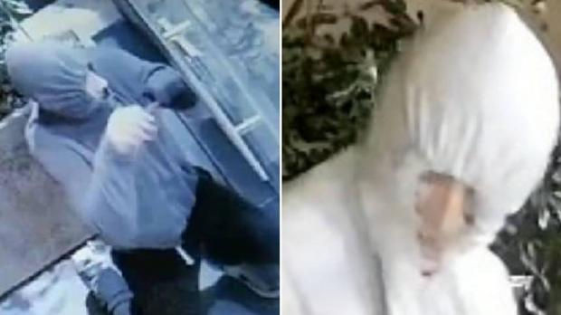 Two screenshots of the man taken from each of of the two break-ins. Photo: Facebook