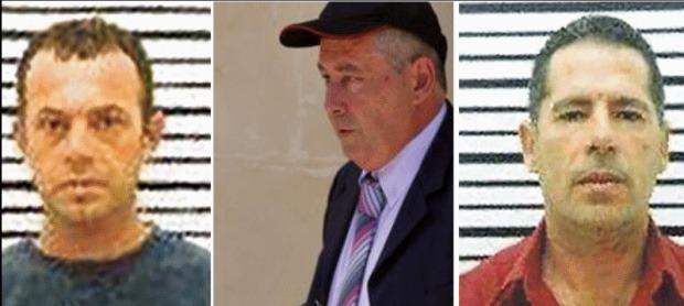 The three murder suspects.