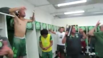 The Brazilian players celebrate victory a few days ago.