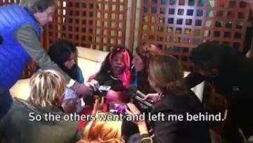 Four-year-old migrant girl and mother in emotional reunion in Sicily